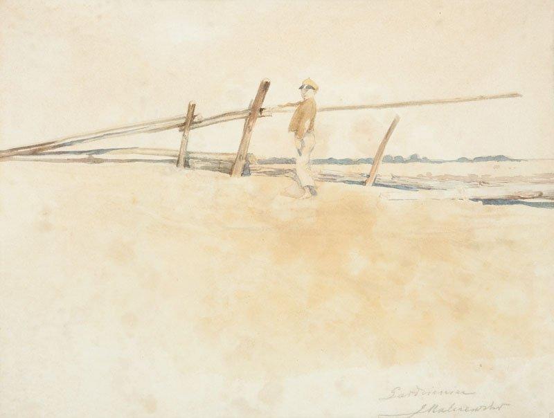 Jacek Malczewski (1854 Radom - 1929 Cracow) Boy waterco