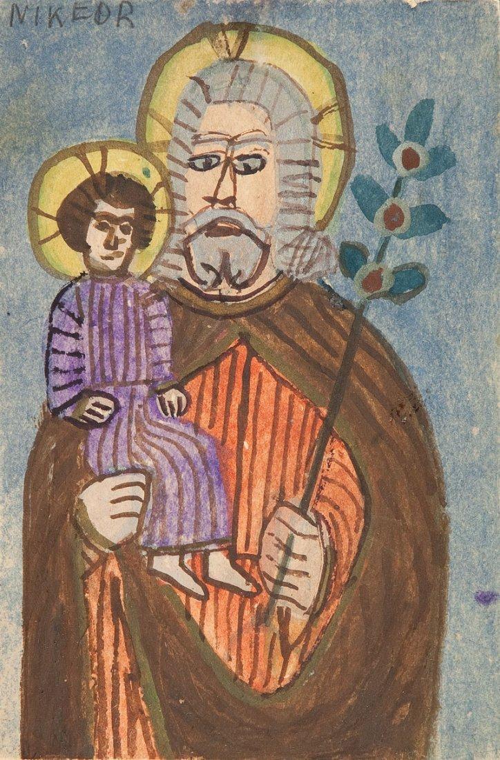 Nikifor Krynicki (1895 Krynica – 1968 Folusz) St. Josep