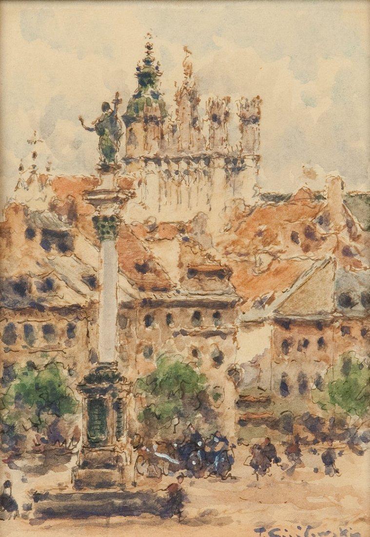 Tadeusz Cieslewski (1870 Warsaw - 1956 Warsaw) Plac Zam