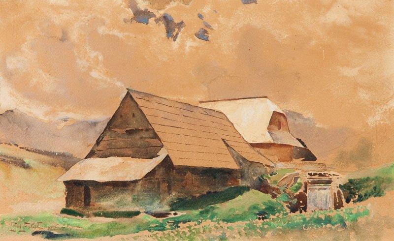 "Julian Falat (1853 Tuliglowy - 1929 Bystra) ""Zakopane"","