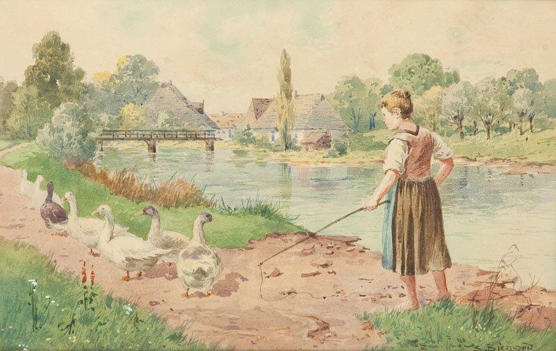 Seweryn Bieszczad (1852 Jaslo - 1923 Krosno) Landscape