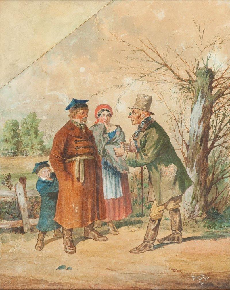 "Arkadiusz Mucharski (1853 Warsaw - 1899 Warsaw) ""Za nam"