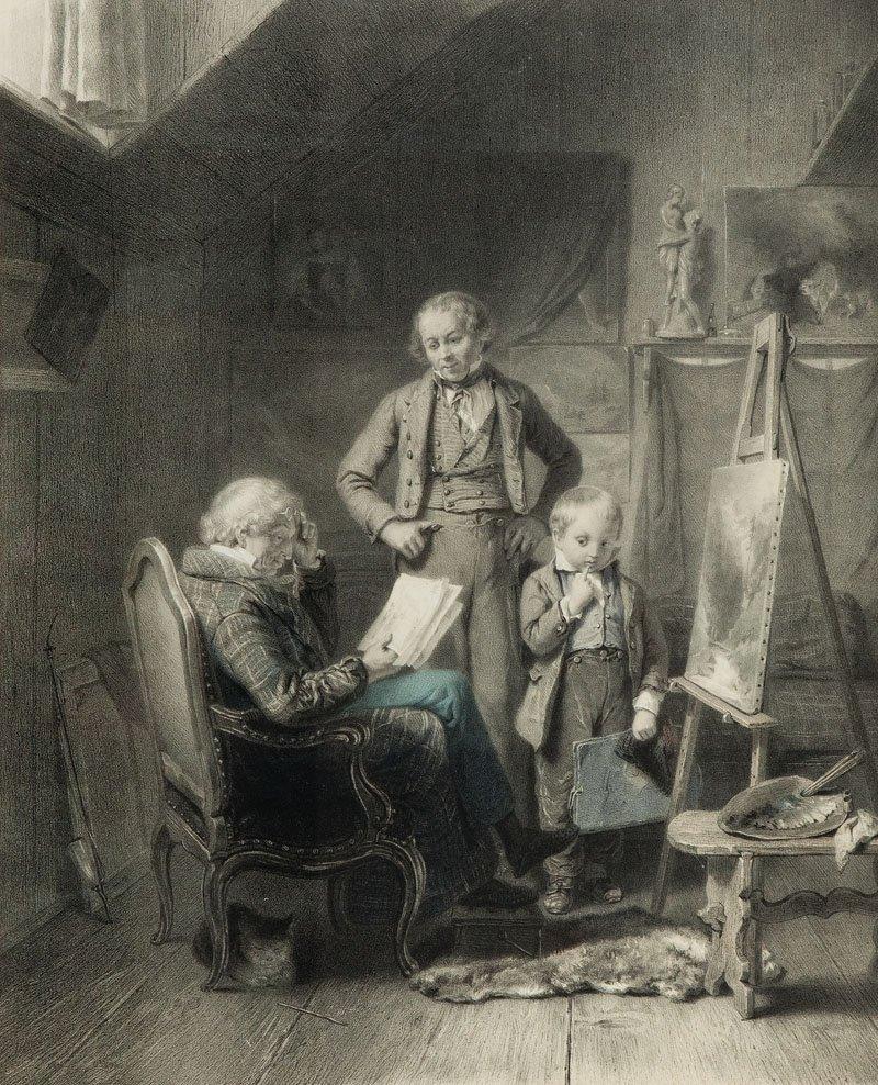Claude Thielley (1818 - ?) Artist's vocation after Edua