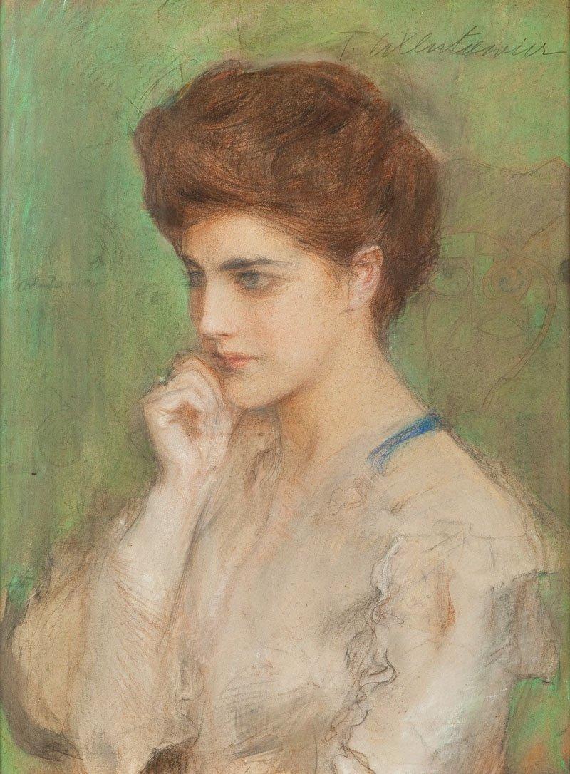 Teodor Axentowicz (1859 Braszow - 1938 Cracow) Thoughtf
