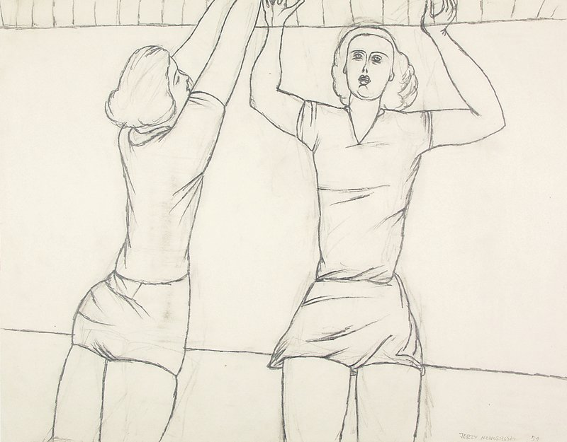 Volleyball players, 1951