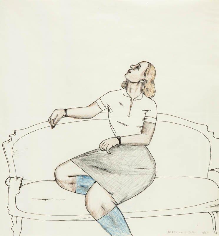 Woman on sofa, 1960