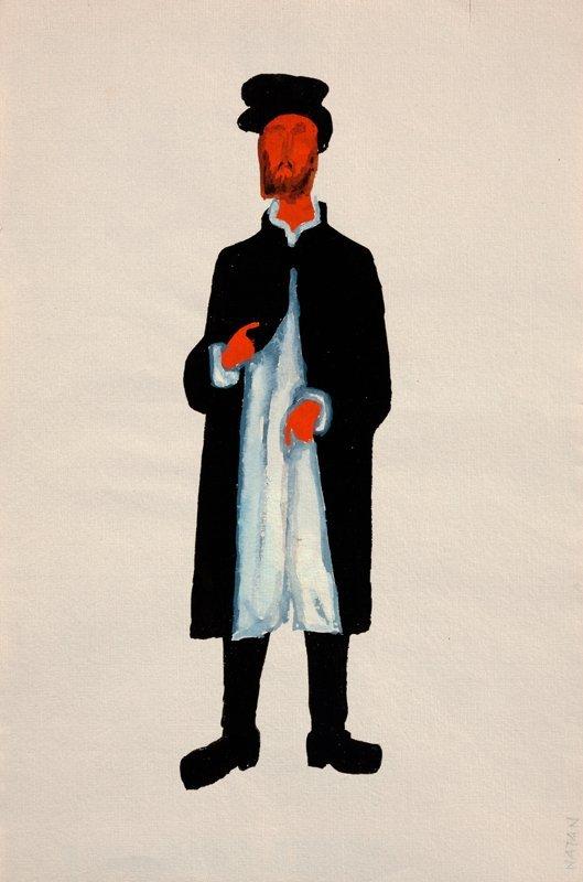 """Natan, Costume Project for Stanislaw Wyspianski """"Sedzio"""