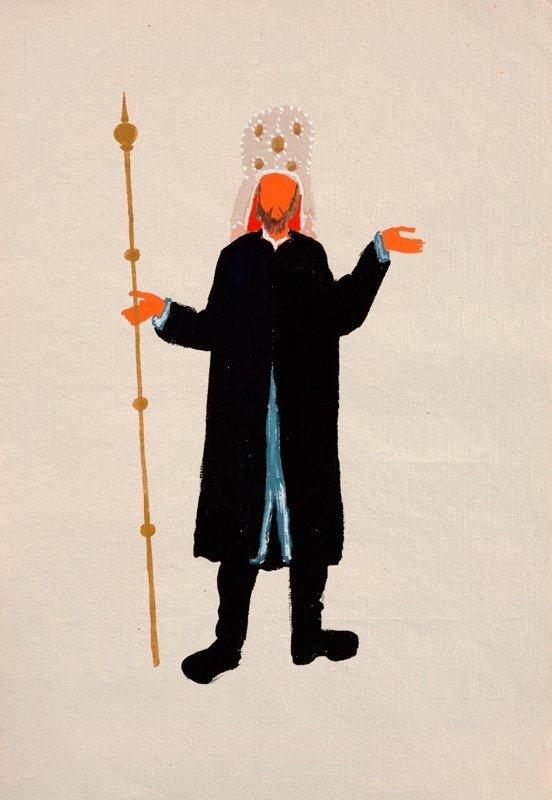 """Costume Project for Stanislaw Wyspianski """"Sedziowie"""", 1"""
