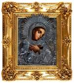 Icon – The blessed Virgin Moscow, 1851 distemper/board