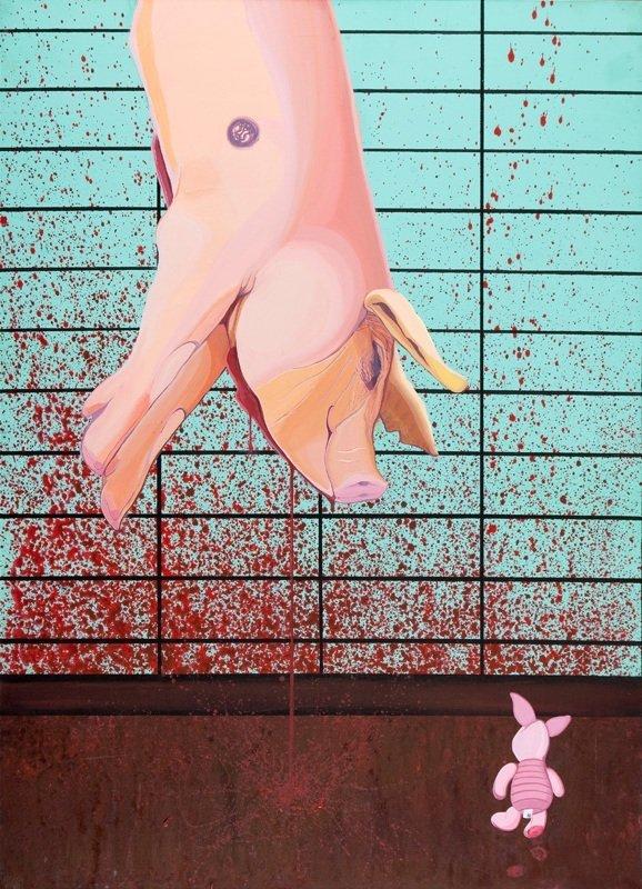 "Rafal Czepinski (b. 1988 ) Sweet pigs, from series ""Swe"