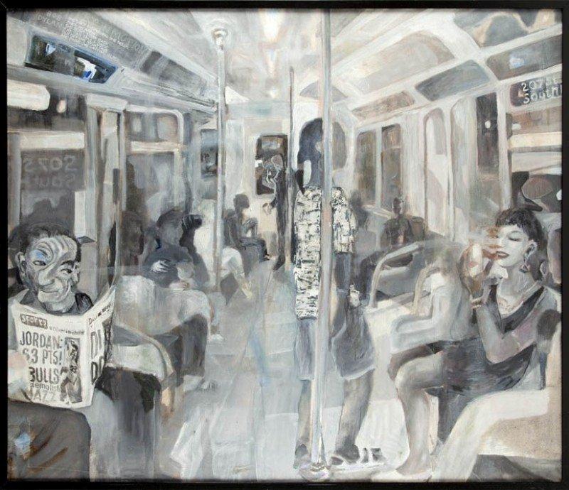 Stanislaw Mlodozeniec  (b. 1953 , Warsaw) Subway, 1994