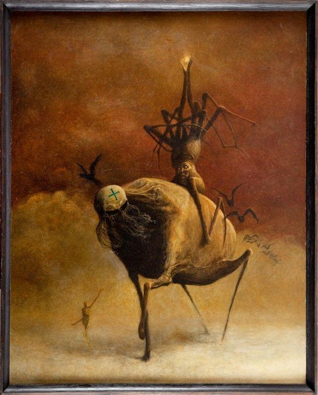 Zdzislaw Beksinski  (1929 Sanok - 2005 Warsaw) Untitled