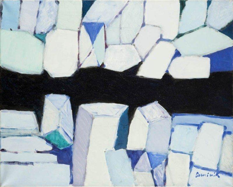 Tadeusz Dominik  (b. 1928 , Szymanow) Alaska, 1998  oil