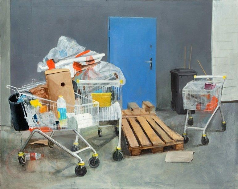 Paulina Siedlarz (b. 1984 , Nowy Sacz) Shopping trolley