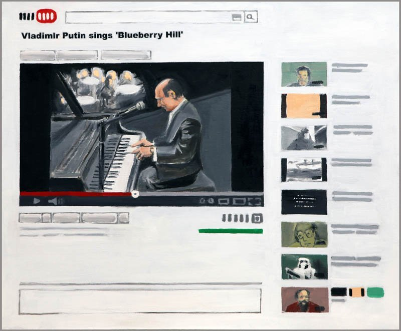 Maciej Majewski (b. 1977 , Rybnik) Vladimir Putin Sings