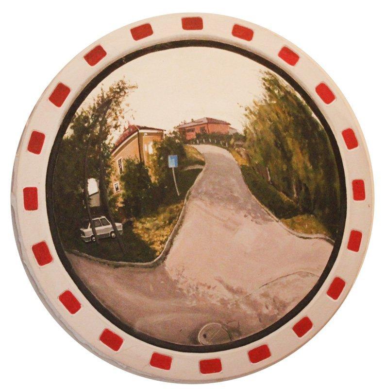 Krzysztof Bryla (b. 1984 , Bilgoraj) Road mirror, tondo
