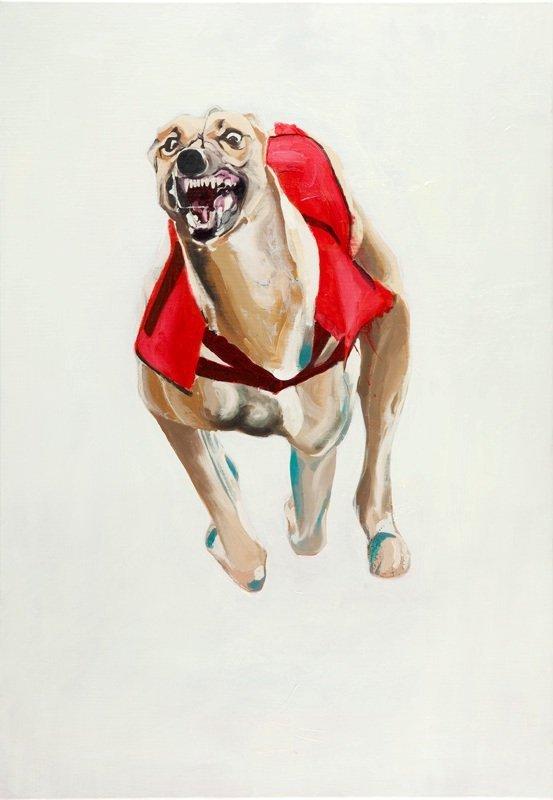 Piotr Szczur (b. 1987 , Jaslo) Dog style VII, 2012  oil