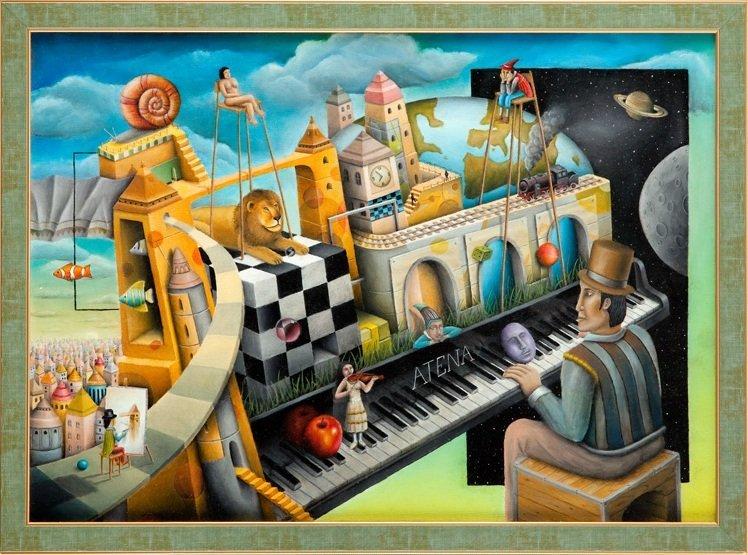 """Kamil Aisaro (b. 1984 , Lodz) """"Pianino Ateny"""", 2012  oi"""