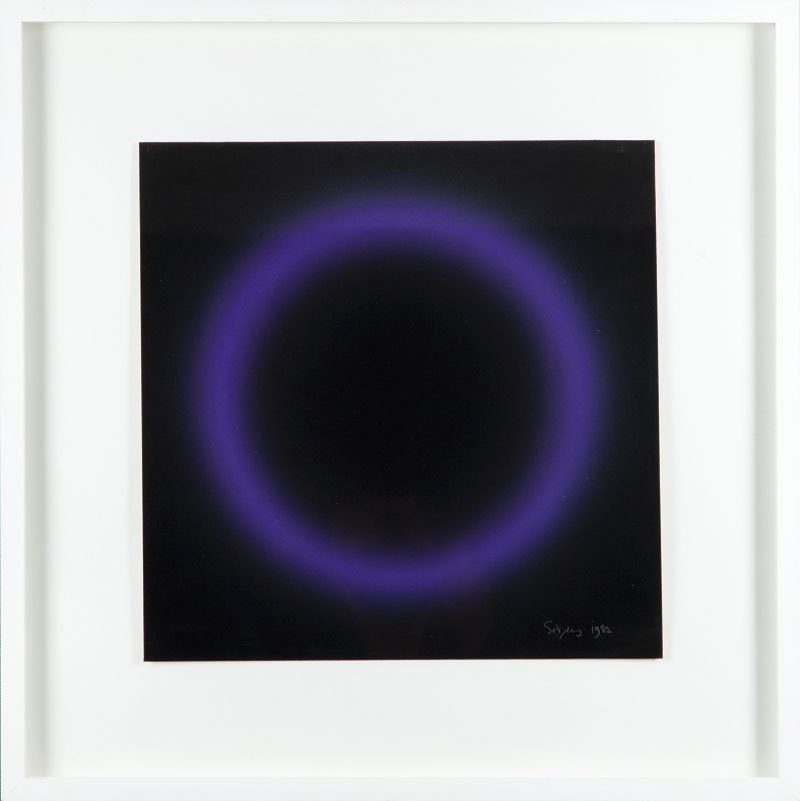Peter Sedgley  (b. 1930 , Londyn) Blue circle, 1982  ac