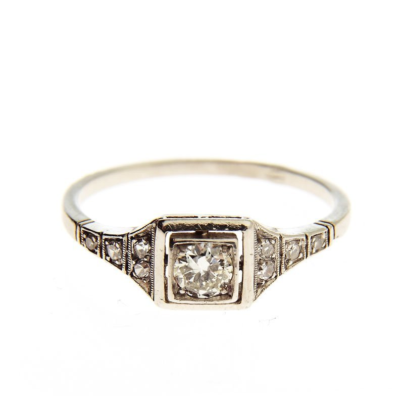 Art déco ring, 20.–30.-ties XX th century platinum ~ 0,
