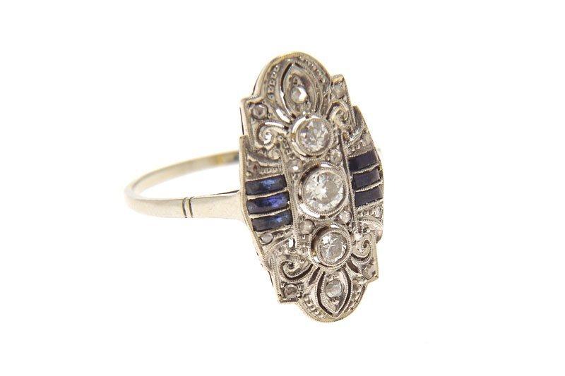 Art déco ring, 20.–30.-ties XX th century gold 0,750, p