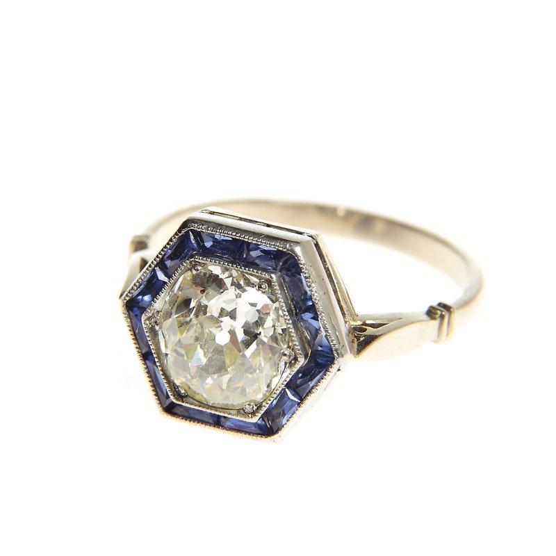 Art déco ring, 20.-30.-ties XX th century  gold 0,585,