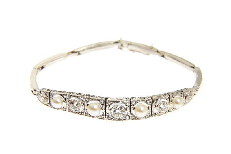 Bracelet, beginning of XX th century platinum 0,950, 5