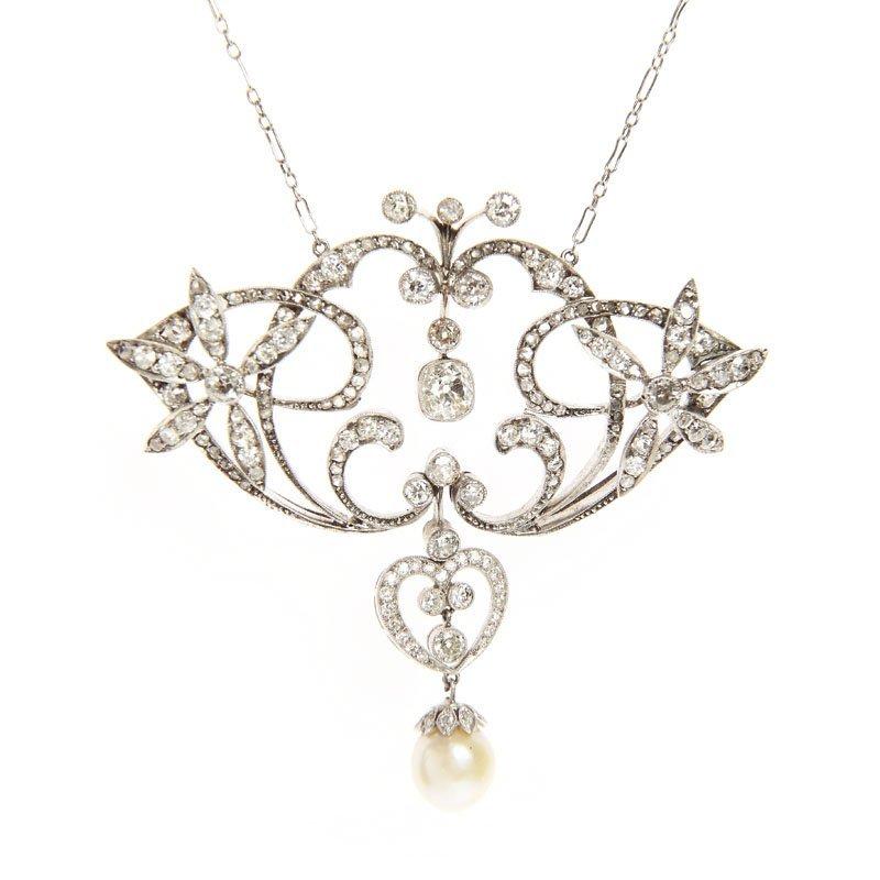 Diamond necklace, beginning of XX th century white gold