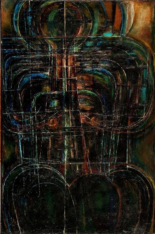 Erna Rosenstein (1913 Lwow - 2004 Warsaw) Figure, 1957