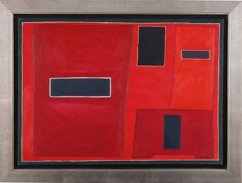 Jerzy Nowosielski (1923 Cracow - 2011 Cracow) Red compo