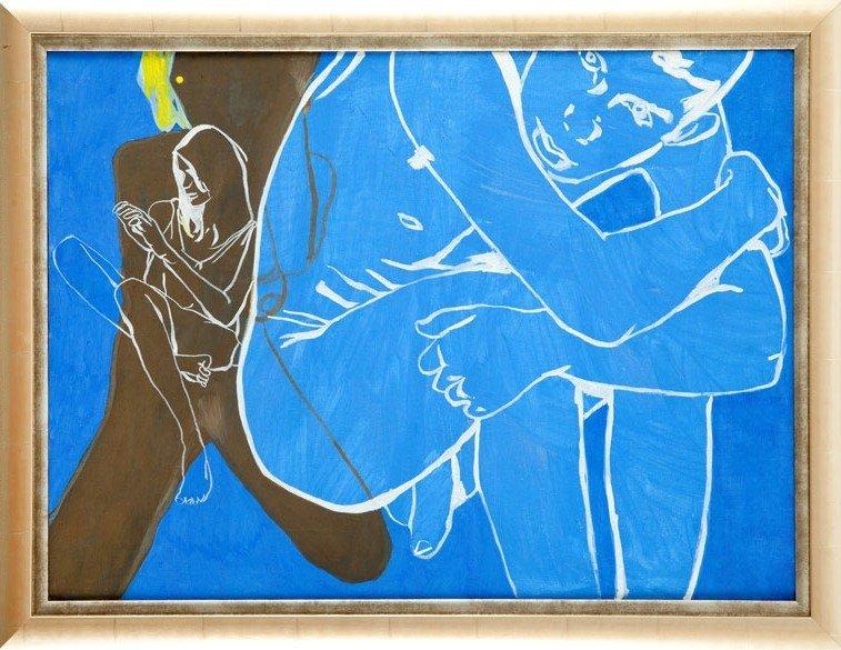 Agnieszka Sandomierz (b. 1978 ) Composition in blue, 20