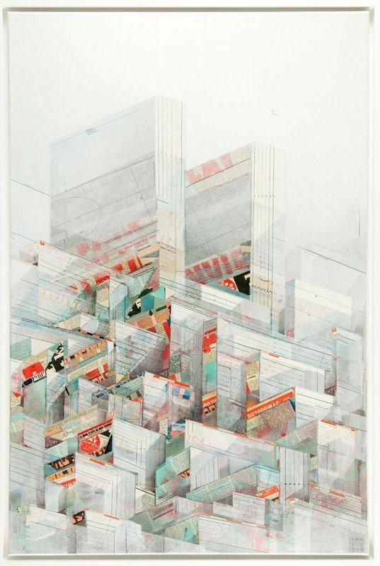 Chazme718 (b. 1980 , Laufen) MEGAPOLIS: City Levels 2,