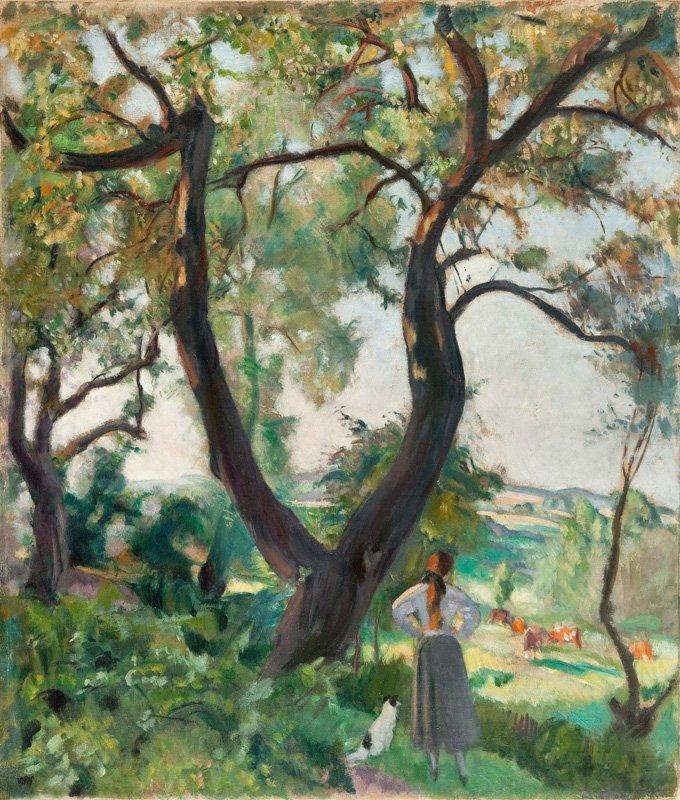 """Wojciech Weiss (1875 Leorda - 1950 Cracow) """"Oczekiwanie"""