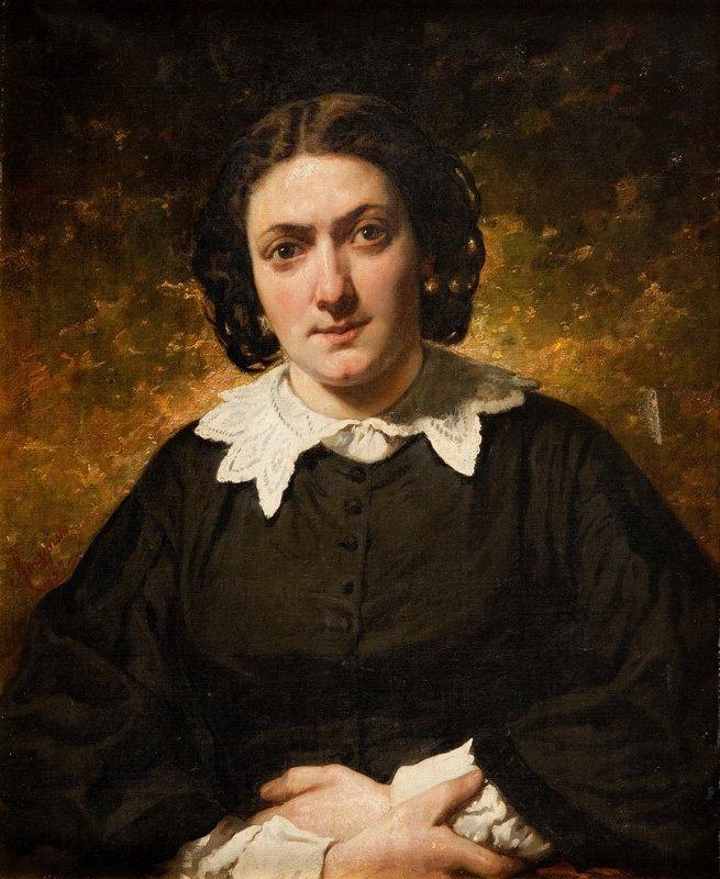 Aleksander Raczynski (1822 Lwow - 1889 Lwow) Woman port