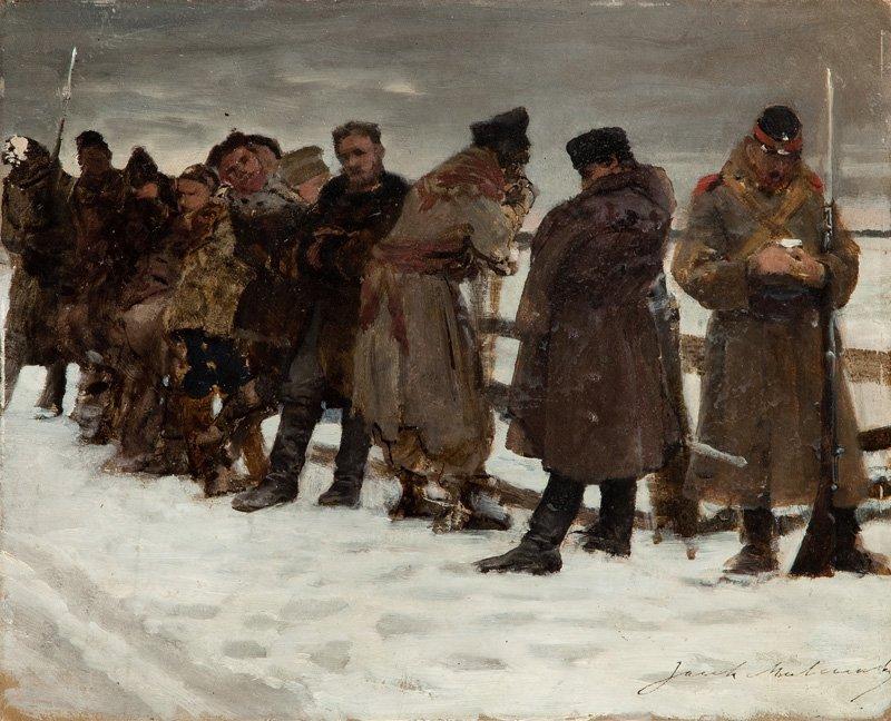 Jacek Malczewski  (1854 Radom - 1929 Cracow) Road to Sy