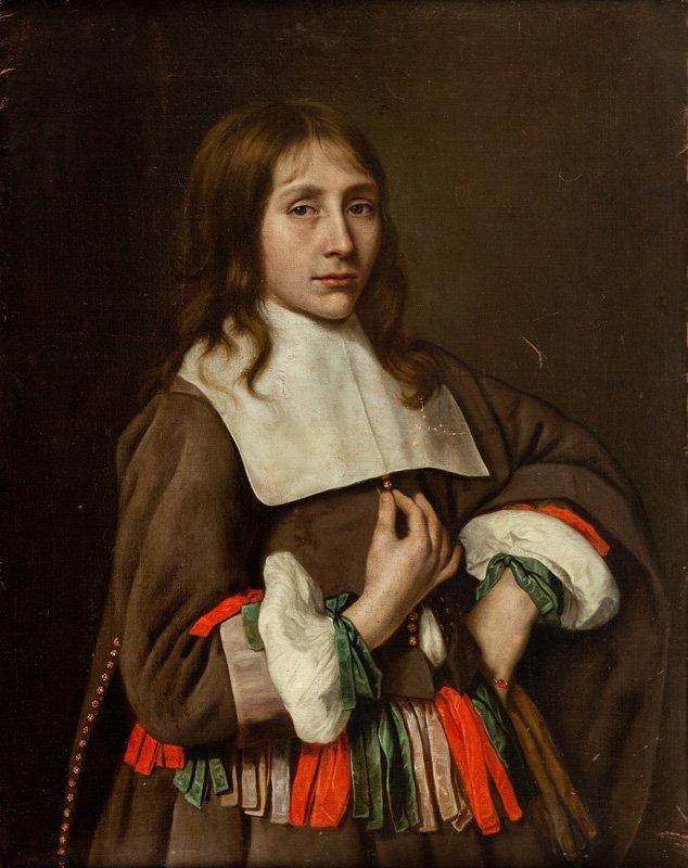 Adrieann van Hanneman (circa 1603 - 1671) Young man oil