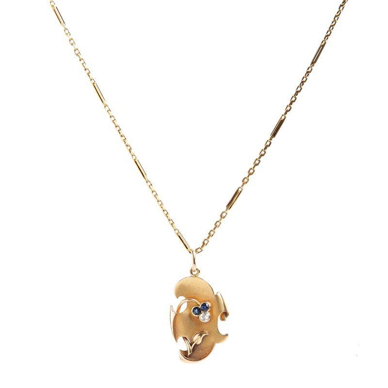 "Pendant, Russia, XIX/XX th century gold ""56"", 1 diamond"