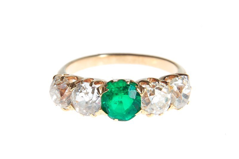 Diamond ring, France?, end of XIX th century gold ~ 0,7