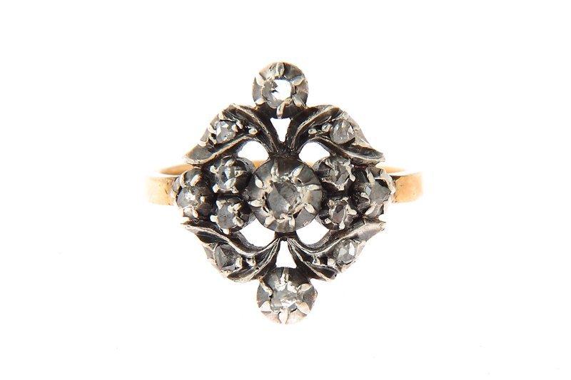 Ring with rose-cut diamonds, Austria?, XIX th century g