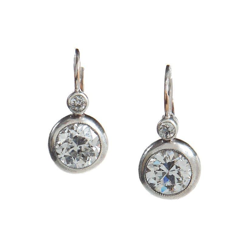 Diamond earrings, Austria, beginning of XX th century g