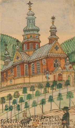 Nikifor Krynicki (1895 Krynica – 1968 Folusz) Autoportr