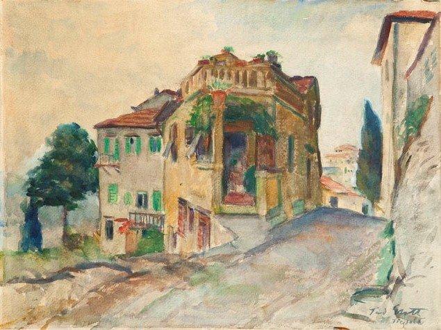 Teodor Grott (1884 Czestochowa - 1972) Old houses in Fi