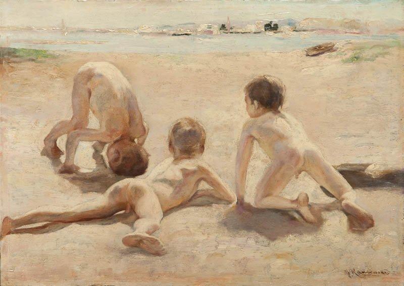 Jan Karmanski (1887 Warsaw - 1958 Pulawy)  Boys on the