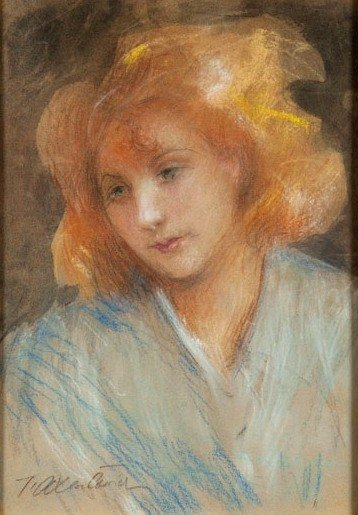 Teodor Axentowicz (1859 Braszow - 1938 Cracow) Girl por