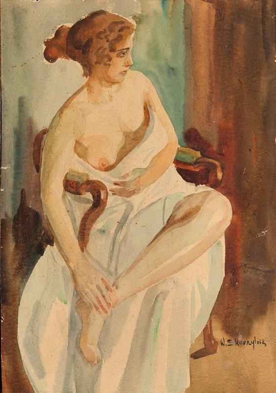 Wladyslaw Skoczylas (1883 Wieliczka - 1934 Warsaw) Nude