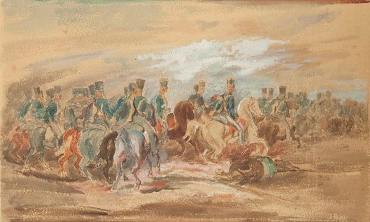 Eugeniusz Geppert (1890 Lwow - 1979 Wroclaw) Soldiers o