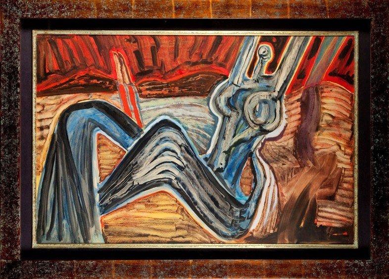 Jerzy Tchorzewski (1928 Siedlce - 1999 Warsaw) Reclinin