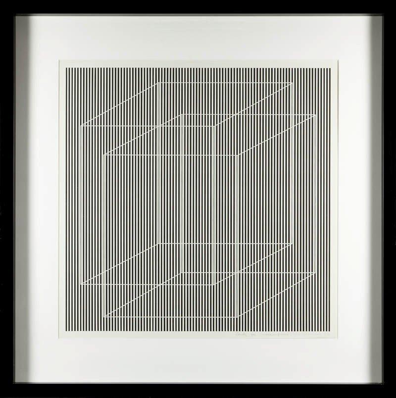 """Julian Stanczak  (b. 1928 , Borownica) """"Superimposed"""","""