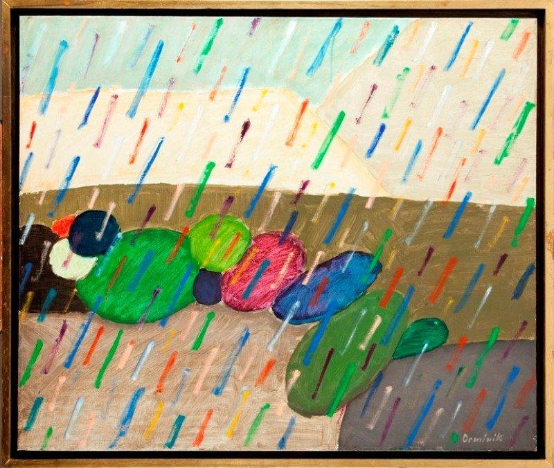 Tadeusz Dominik (b. 1928 , Szymanow) Rain, 1991