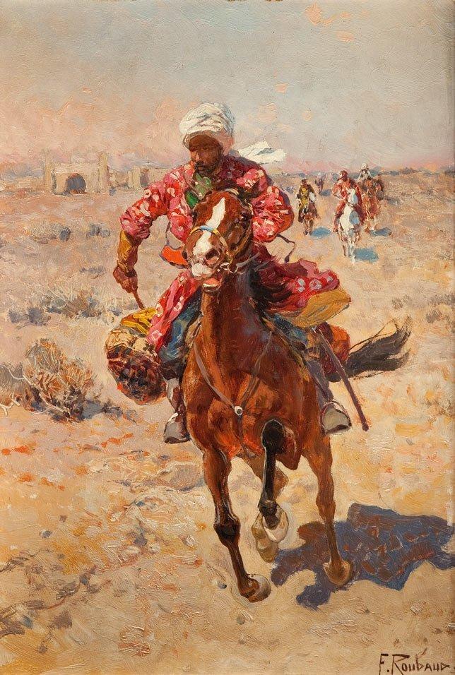 Franz Roubaud (1856 Odessa - 1928 Munich) Chase